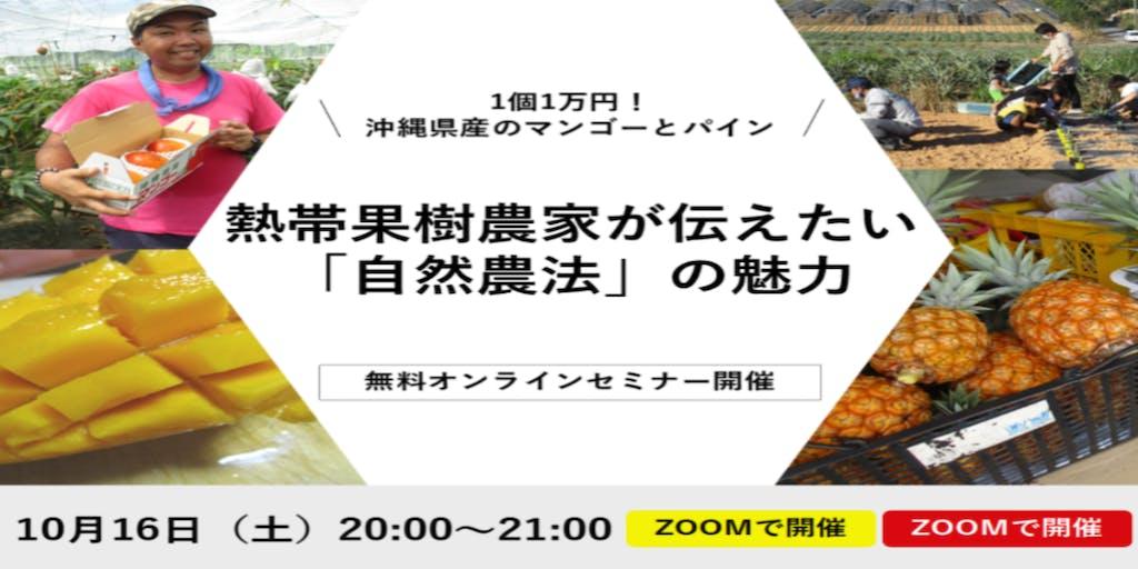 1個1万円!沖縄県産マンゴーとパインを栽培する農家が伝えたい「自然農法」の魅力