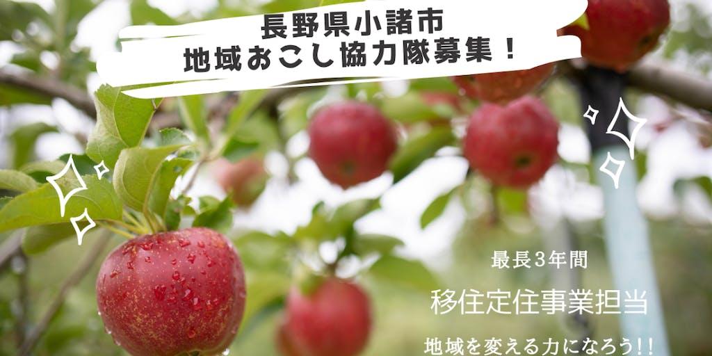 【長野県小諸市】地域おこし協力隊を募集します!!(令和4年4月~)