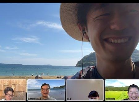 バーチャル背景、ではありません!@菊が浜