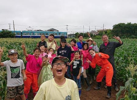 銚子電鉄が走る畑での農業体験