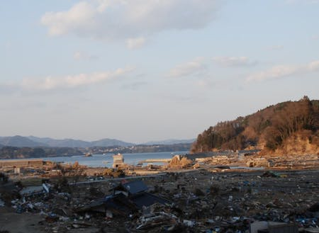 東日本大震災当時の写真。全てが流されていた。