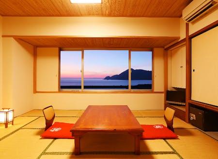 奥城崎シーサイドホテル海側部屋からの景色