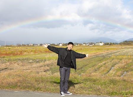 高島市はよく虹がでます。自然を感じる地方で働きませんか?