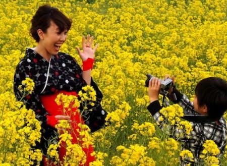 お子さんカメラマンも、撮影を楽しんだり。