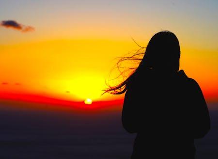 夕日を見て癒され