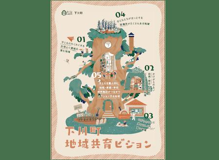 「下川町地域共育ビジョン」は5つの子どもを育む地域の姿が描かれています!