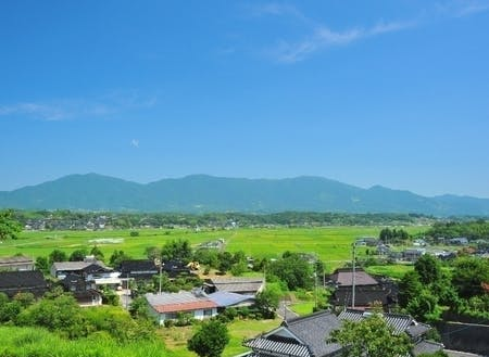 勝央町北部の田園風景