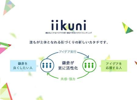 カマコンから生まれた、地域をよくするクラウドファンディング「iikuni」