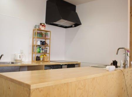 コワーキングスペース今プラスのキッチンスペース