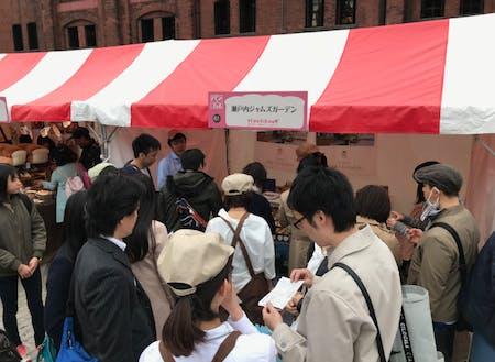 横浜赤レンガ倉庫で開催された「パンのフェス」に出店した際の様子