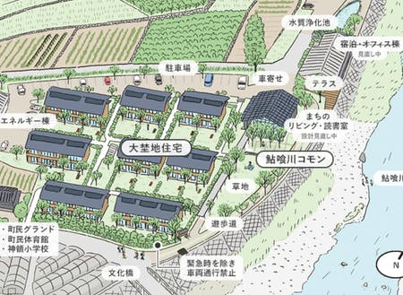 大埜地住宅の完成イメージ図