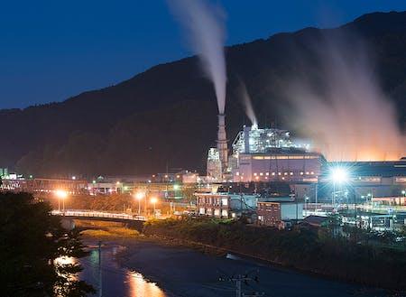 釜石製鉄所の夜景