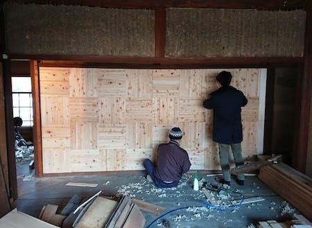 空き家再生には邑南町の無垢材を多く使用します