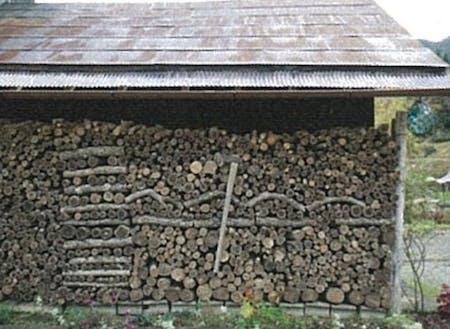 薪の積み方でも面白い