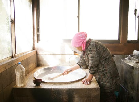 昔は豆腐は各家庭で作られていた