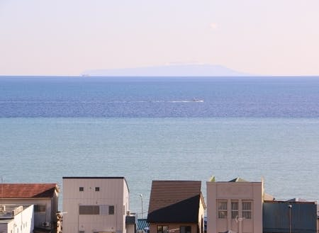 天気が良い日は海と空の3色ブルーを楽しめます。