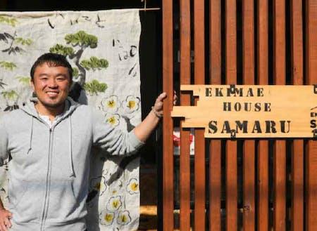 大正地区コース 小野さん 卒業とほぼ同時にゲストハウスを運営開始。