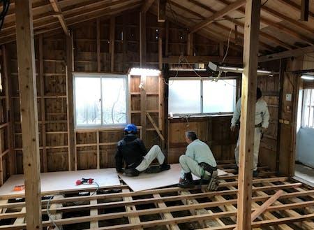 2軒目の空き家の改修作業