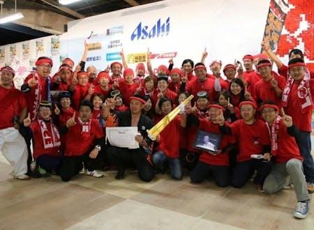 第10回B-1グランプリin十和田にてゴールドグランプリを受賞した熱血!!勝浦タンタンメン船団のみなさん
