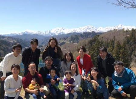 春、山桜の季節に地域を訪れました。