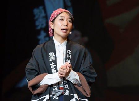 アドバイザーの田澤麻里香さん。蔵人体験ができるゲストハウスKURABITO STAY代表