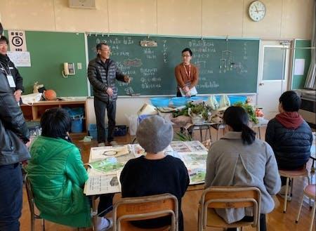 地域おこし協力隊が企画したフリースクール(波松小学校にて)