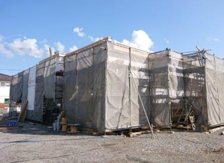 11月に完成予定の加工施設