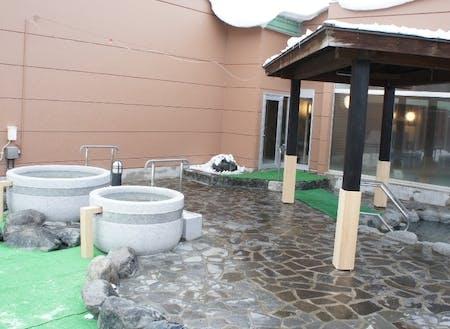 移住体験住宅の近くにある温泉施設