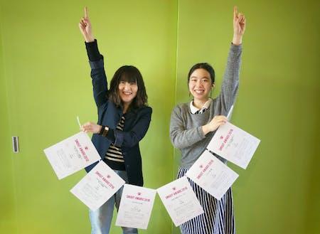 下川町メンバーの立花 祐美子さんと立花 実咲さん