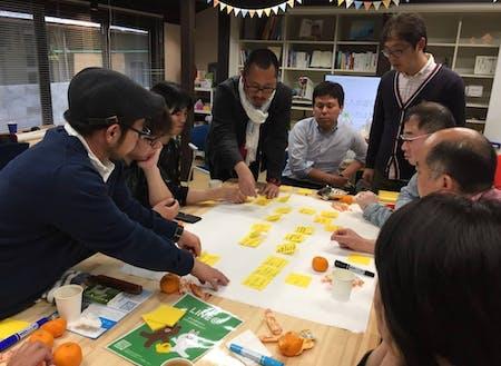 八幡浜市にある離島地域を盛り上げるためのアイデアを出し合うイベントを開催。現実味を帯びたアイデアがたくさん出ました。