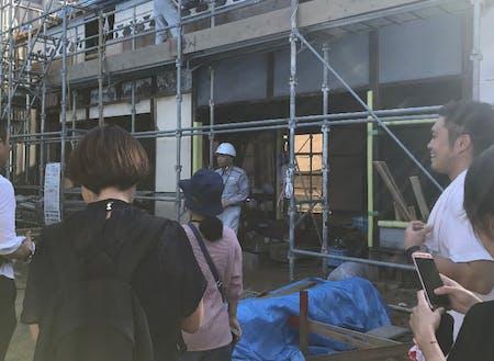 改装中の空き家物件見学