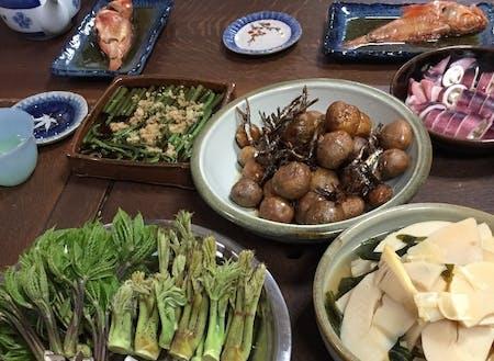 民泊家庭の料理