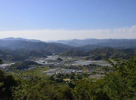 面積の約7割が森林資源の佐川町。