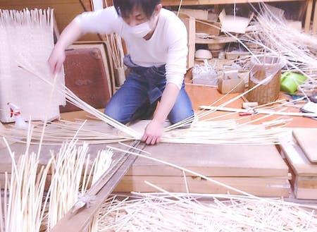 コリヤナギを編む①