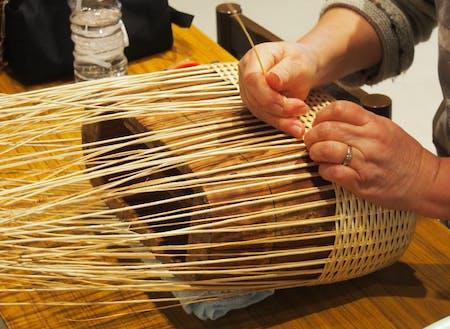 コリヤナギを編む②