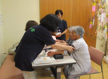 血圧測定で健康チェック