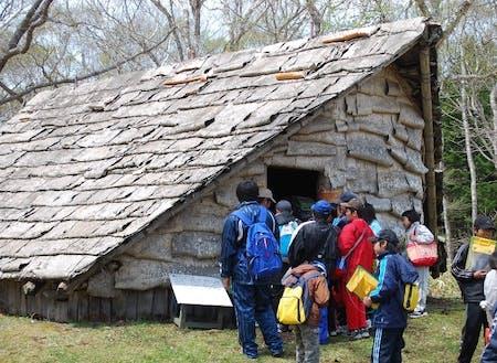 標津遺跡群 復元古代竪穴住居