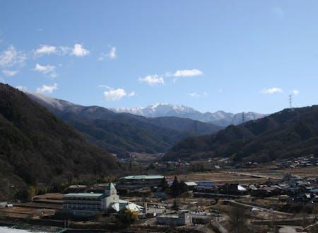 長谷地域からのアルプスの風景