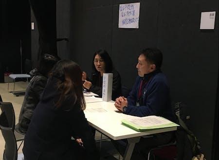 釜石での就職セミナーの様子