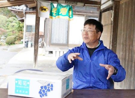 常陸太田市ぶどう部会部会長の武藤さん。3年後の生産者としての挑戦を応援したいそう。