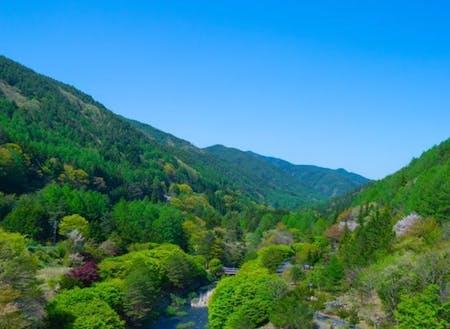宿泊先の川島の谷