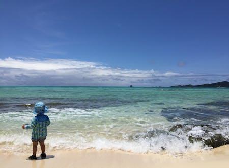 久米島の海はほんっとにきれい!