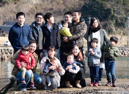 子育て世帯の若手Uターン者が多い集落