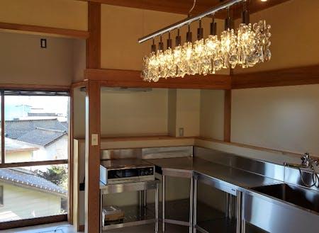 業務用キッチン完備→山海の幸でレシピ開発なんてどうですか?