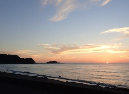 開放的な海と空が広がる珠洲の風景
