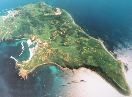 島全体が牛の形をした島