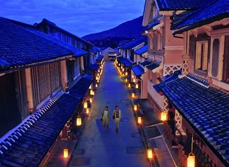 愛媛県内子町の夜景