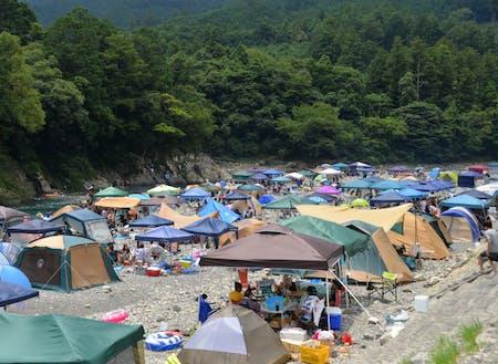 夏の銚子川の様子