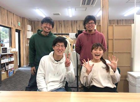高田暮舎のスタッフは、全員で4名。震災後陸前高田の「キーパーソン」として活動した6名が理事となり、共に活動しています。