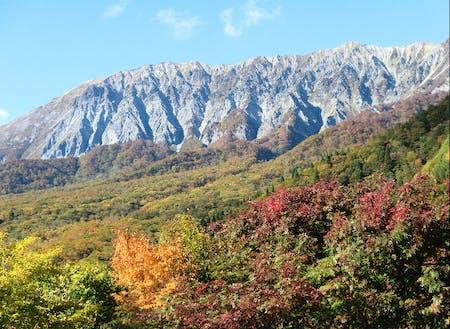 鍵掛峠から望む大山南壁